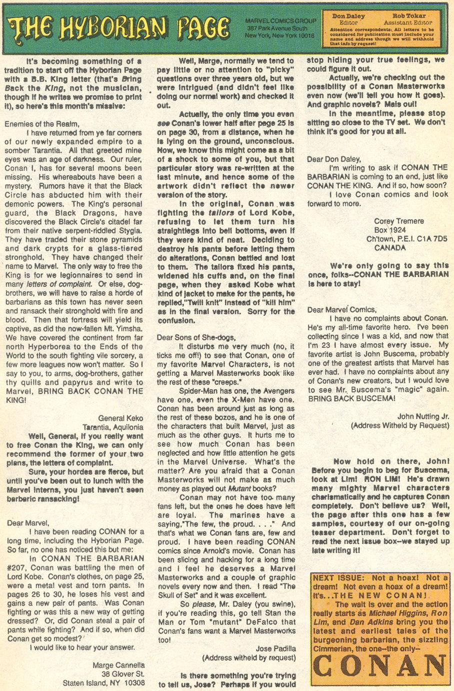 Conan the Barbarian (1970) Issue #231 #243 - English 25