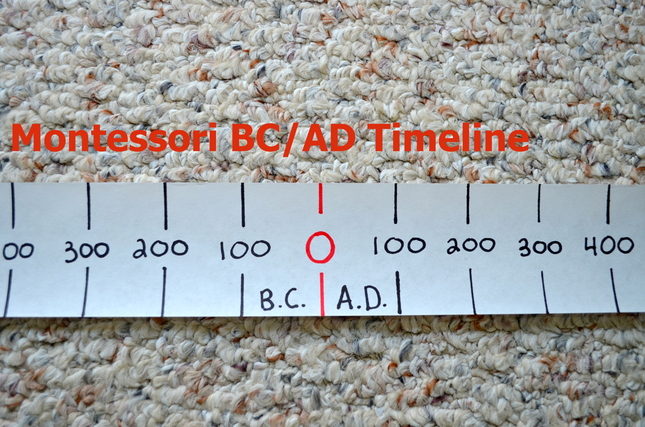 What DID we do all day? : Montessori Elementary: BC/AD Timeline