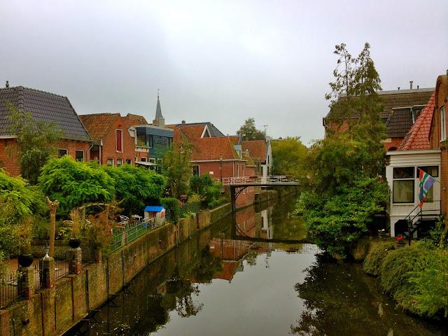 Image of Damsterdiep. Appingedam, the Netherlands.