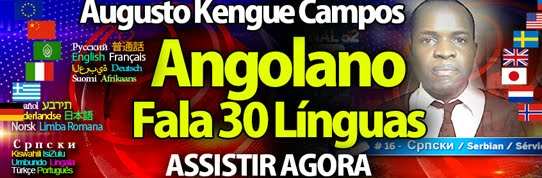ANGOLANO FALA 30 LÍNGUAS
