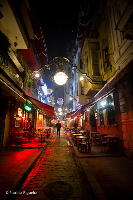 Beautiful lamps on the streets of Taksim