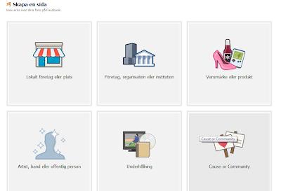 Skapa en sida i Facebook för marknadsföring