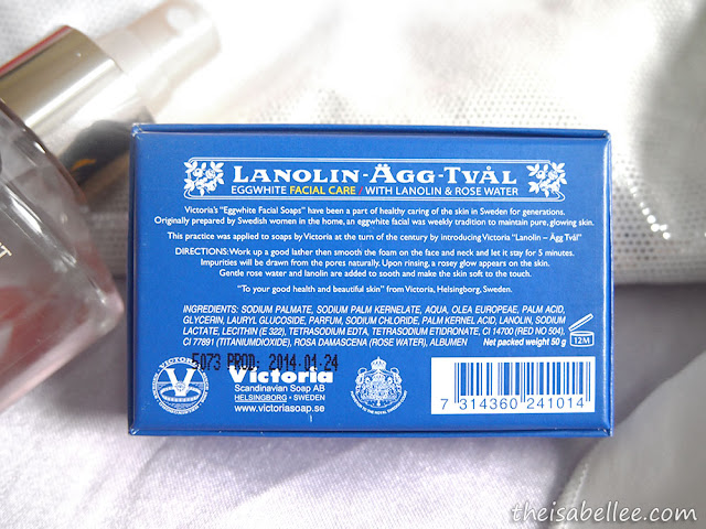 Victoria Lanolin-Agg-Tval Eggwhite Facial Care Soap ingredients