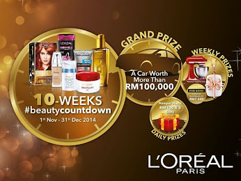 Checkout L'Oreal Paris 10 Weeks #beautycountdown contes