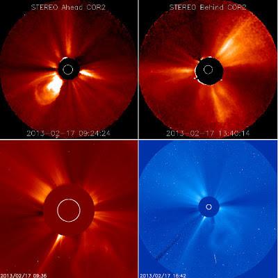 llamarada solar clase M1.9 surgió de la mancha solar 1675 el 17 de febrero 2013