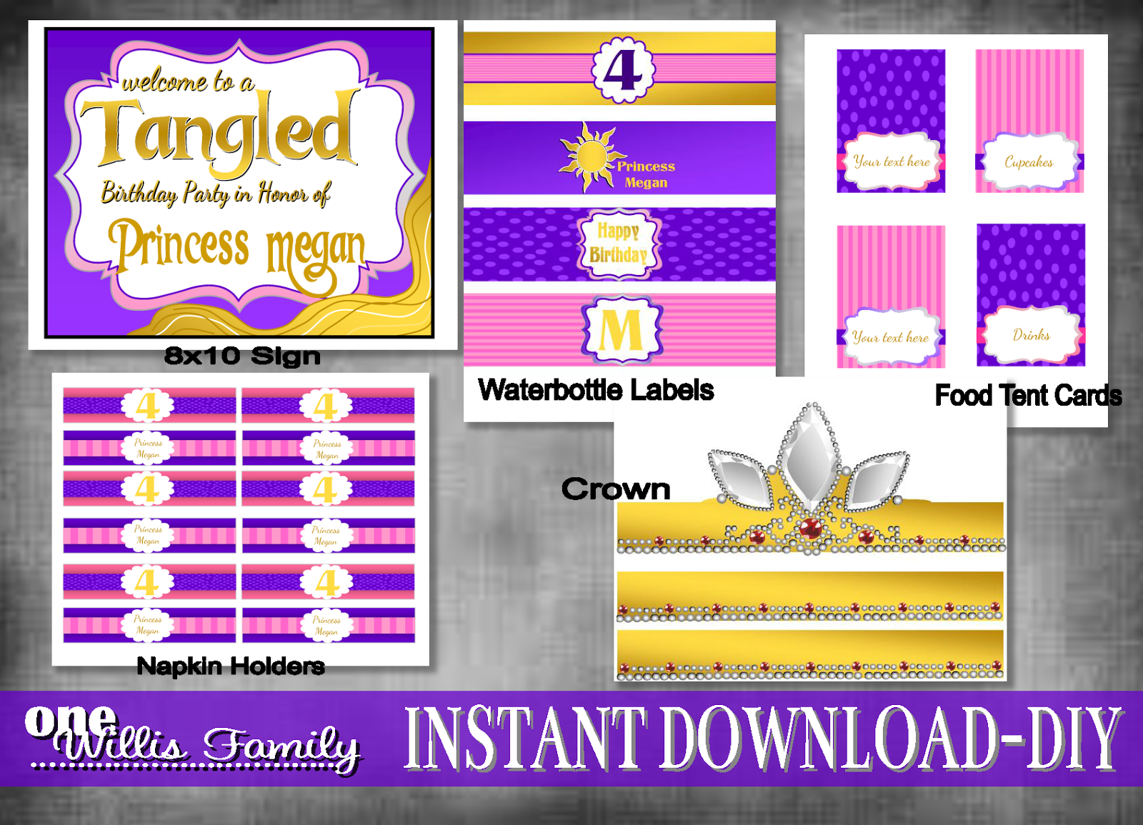 Disney's Tangled Birthday Party Pack