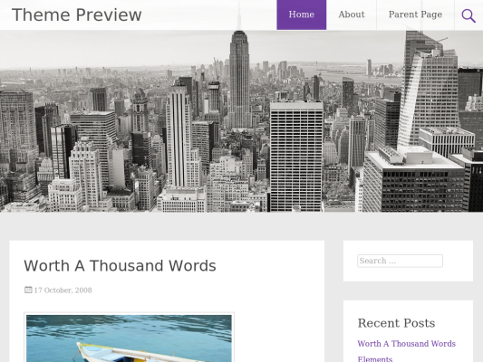 Radiate Free WordPress theme 2014