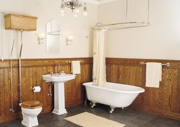 Baños para espacios pequeños: Baños de estilo rustico