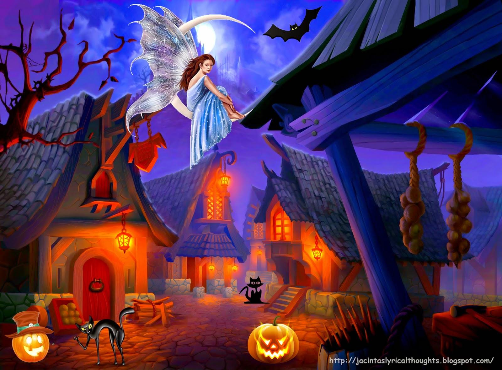 """""""Halloween Scene"""" """"Fairy"""" """"Halloween Jack O'Lantern"""" """"Halloween Pumpkin"""""""