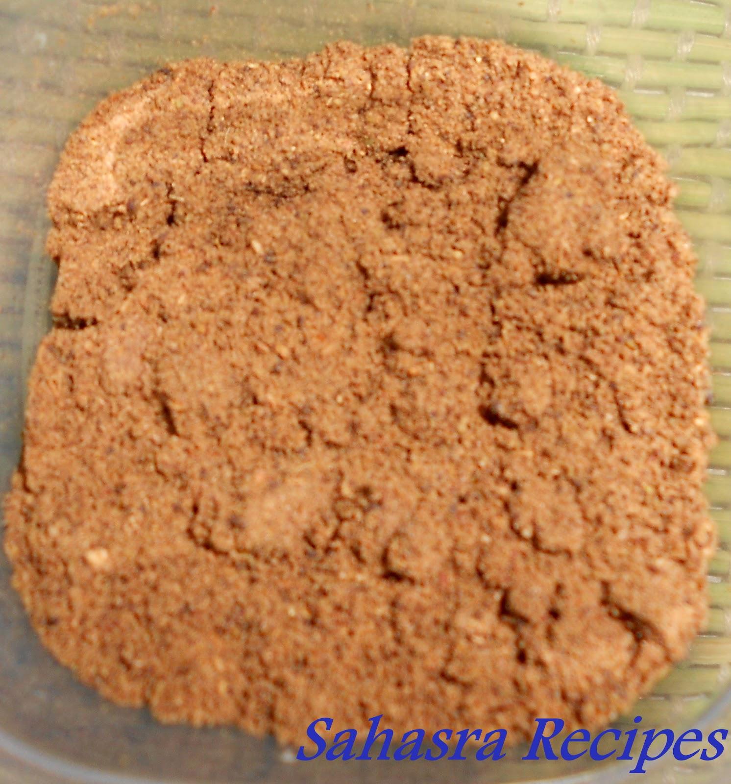 Sahasra recipes garam masala - Garam masala recette ...