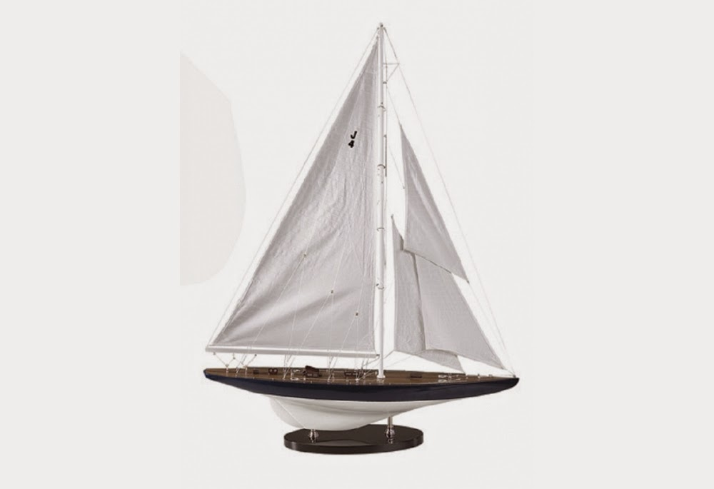 J Class Rainbow Sailboat Model