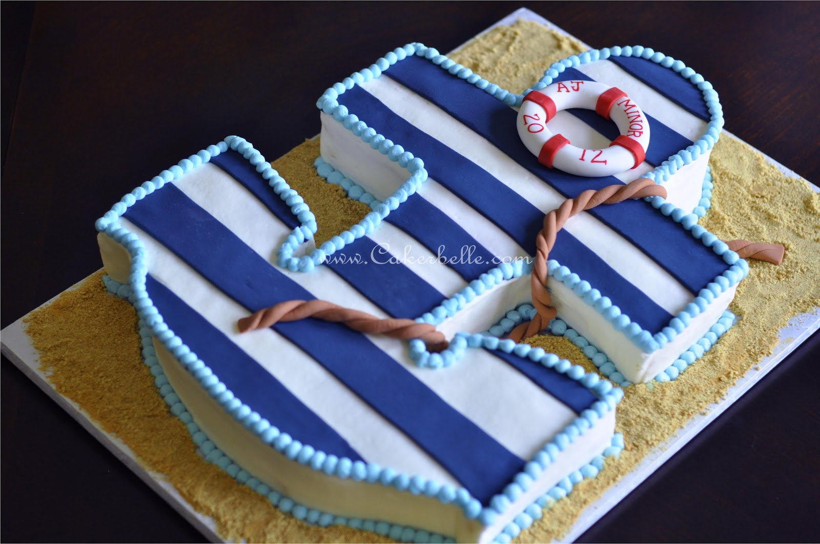 Anchor Themed Cake