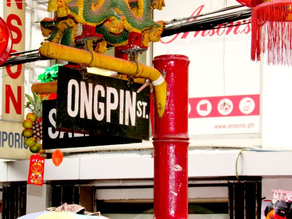 "CHINATOWN: A signboard of ""Ongpin St"""