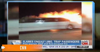 Bride killed in limo fire: Tragic fire in limo kills bride and 4 others