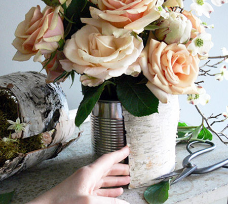 diy project birch vase