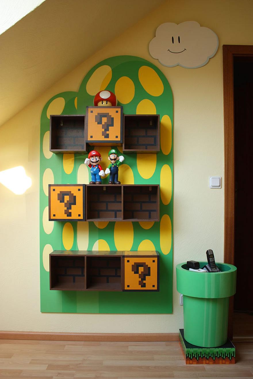 kids video game themed rooms design dazzle. Black Bedroom Furniture Sets. Home Design Ideas