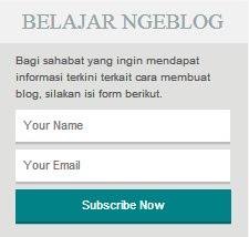 Aneka Macam Cara Membuat Widget Subscribe Blog