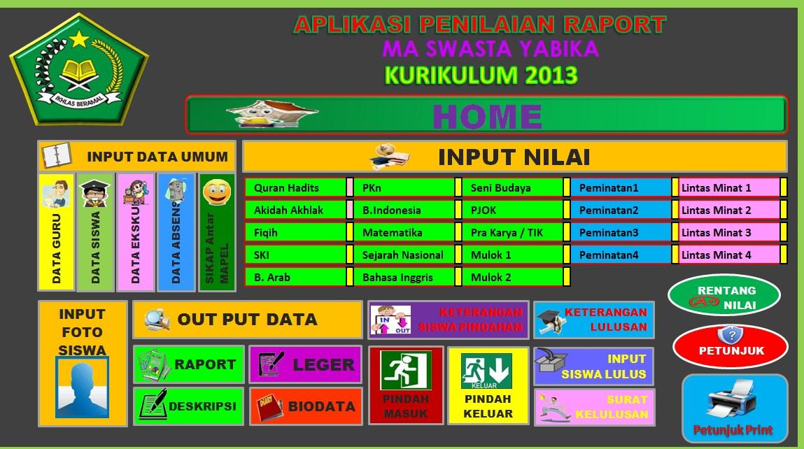 Download Aplikasi Raport Ktsp Dan Raport K13 Untuk