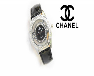 jam tangan keren CHANEL CH-18 BLACK SILVER