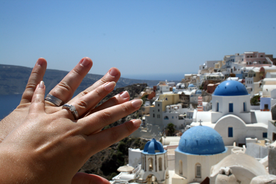 Wedding Ring Selfie Photo Tradition Santorini