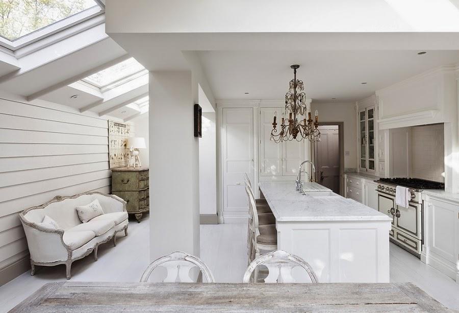 wnętrza, wystrój wnętrz, styl francuski, eleganckie, szary, beżowy, romantyczny, kuchnia