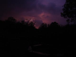 As darkness set in in Dandeli
