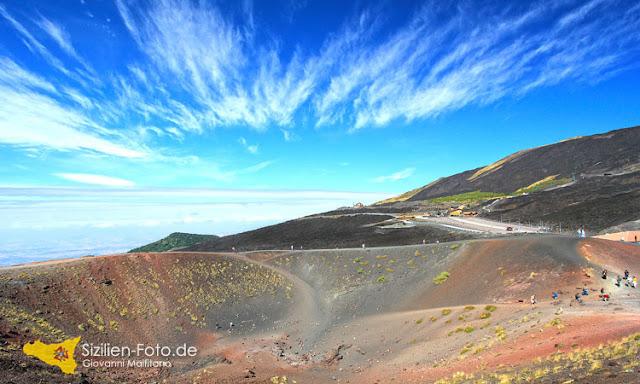 Silvestri Krater auf dem Vulkan Ätna