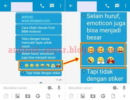 Cara Memperbesar Tampilan Emoticon BBM Saat Chatting
