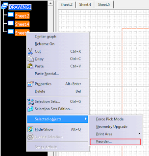 How to Reorder Drawing Sheets in CATIA V5