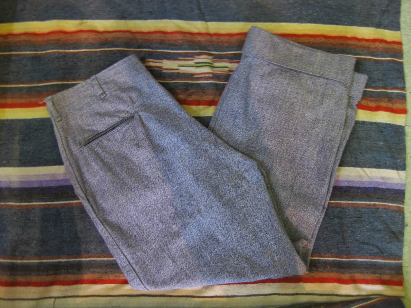 30's~40's PURPLE COVERT PANTS 37×29