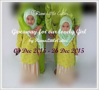 rianalittlecuties, giveaway for our lovely girl,