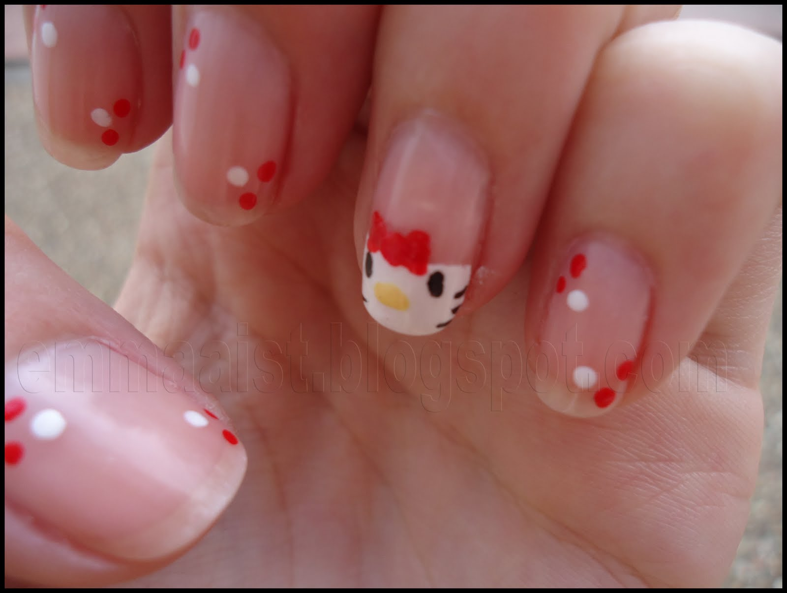 Emmaaist: Uñas III: Cute Hello Kitty