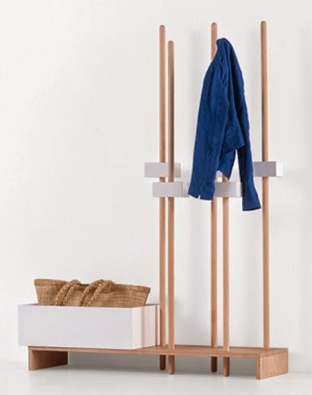 Cabideiro de madeira
