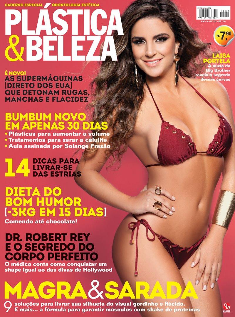 Laisa Porte de biquíni na capa da revista Plástica & Beleza