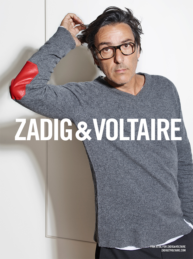 Célèbre Yvan Attal égérie Zadig et Voltaire | DAME SKARLETTE KF81