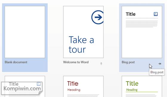 Blogger: Cara Menulis dan Menerbitkan Postingan Blog di Microsoft Word 1