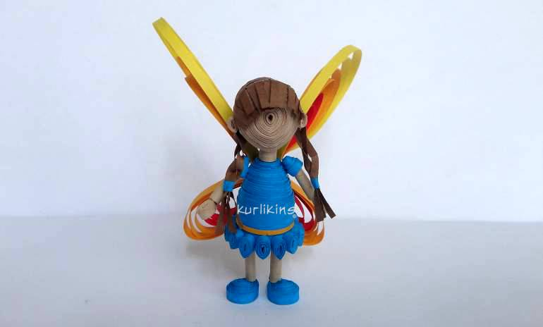 Fairy girl 3D quilling