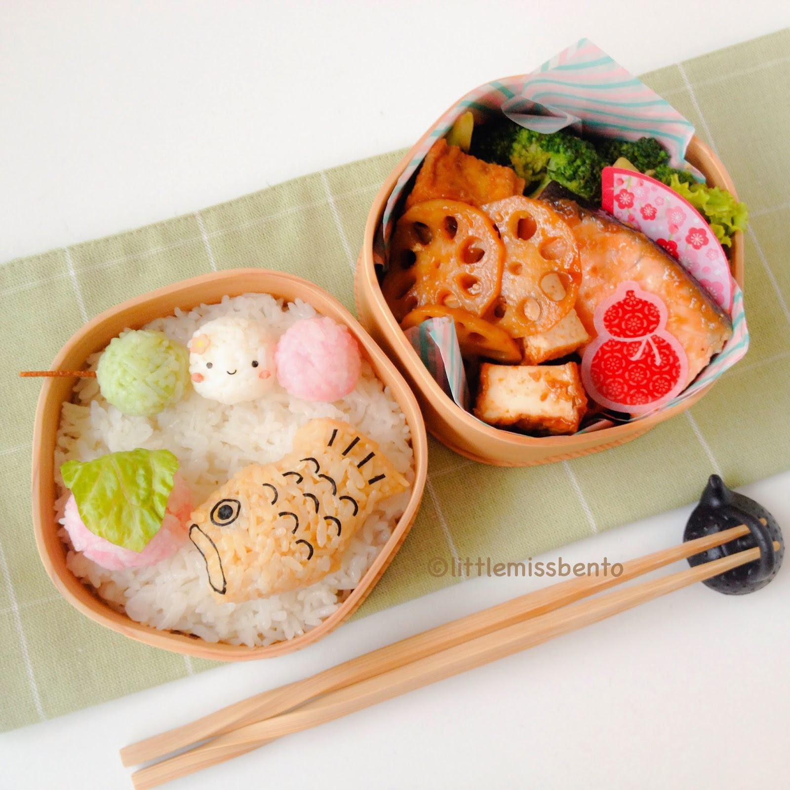Traditional Sweets (Wagashi) Bento 和菓子のキャラ弁 - Little Miss ...