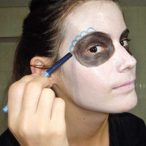 maquillaje de calavera mexicana paso a paso 4 monika sanchez