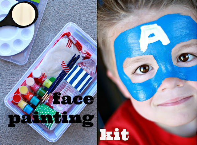 Kids Face Painting Kit from Just Another Day in Paradise via www.thirtyhandmadedays.com