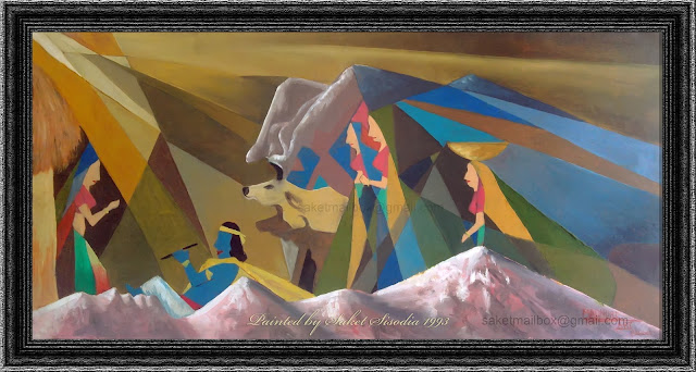 Gokul Godhuli Oil Painting