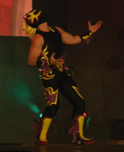 sin cara wwe without mask. A masked wrestler by the name