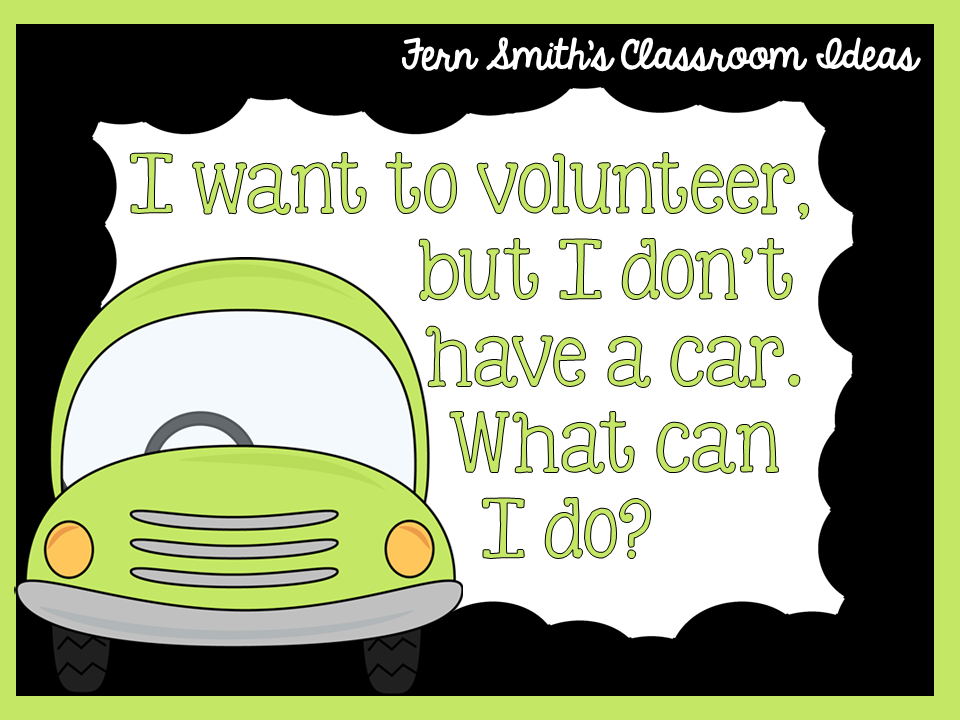 Fern Smith's FREE Stay At Home School Volunteer Request Poster at Classroom Freebies