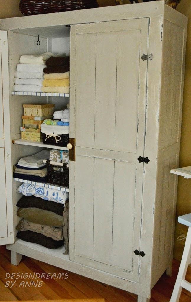 Designdreams by anne ikea hack wardrobe to vintage for Linen closet ikea