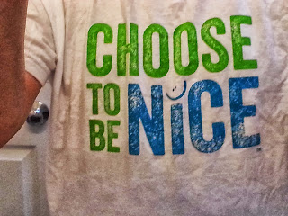 choose to be nice t-shirt