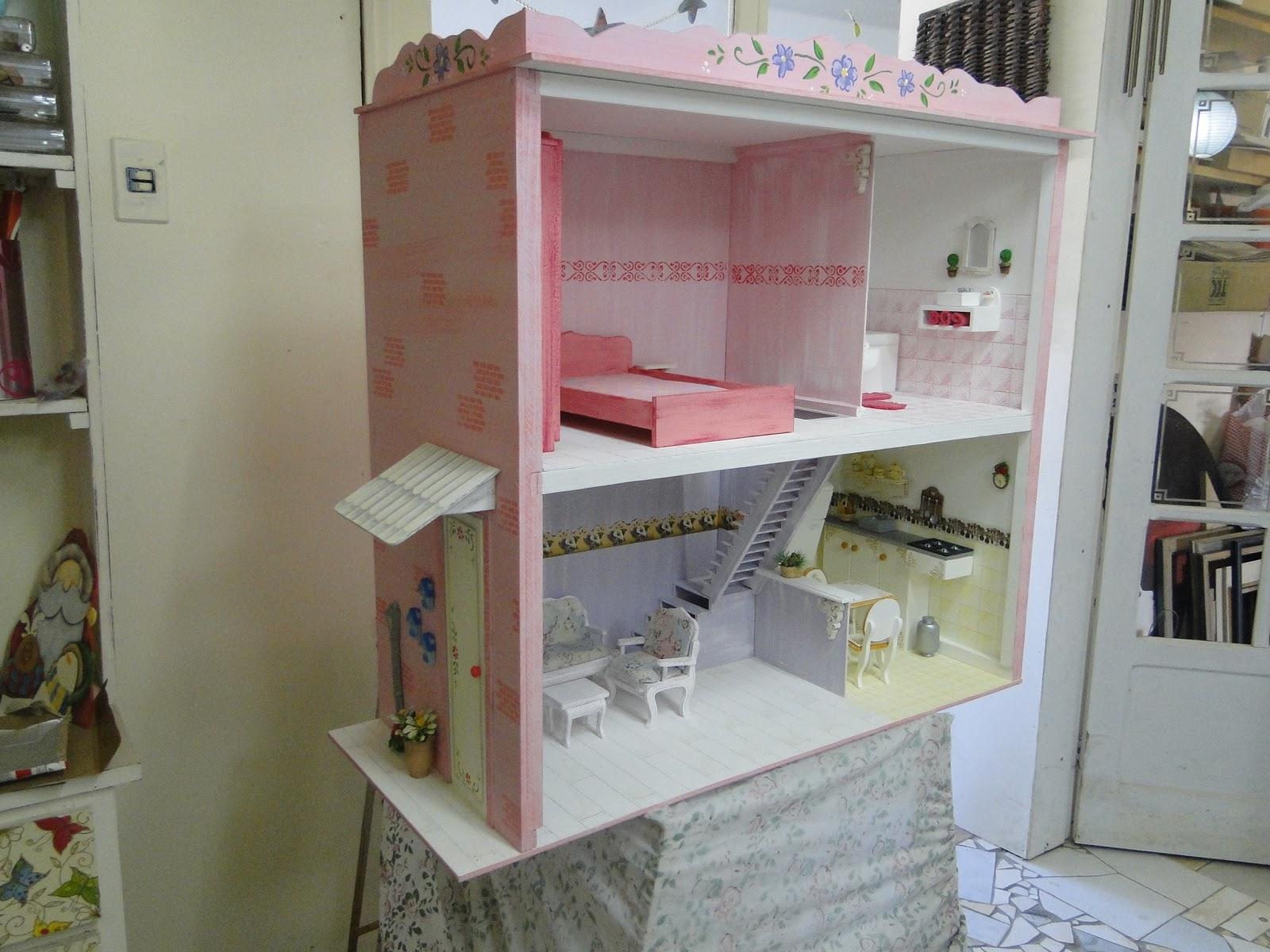 Casas e Casinhas Home Store: Casa de Bonecas Barbie Modelo Grande #6E4B40 1600x1200 Banheiro Da Barbie De Papelão