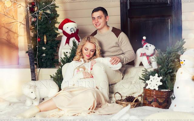 на фотосессии с мужем моя беременность