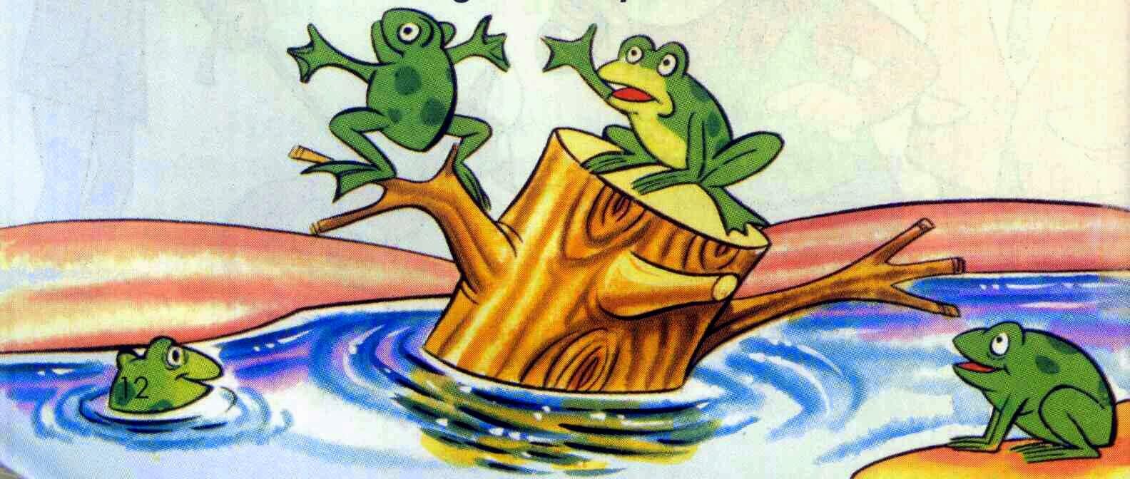 fabula para niños las ranas pidiendo rey