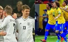 البرازيل مع المانيا نصف نهائي  كأس العالم