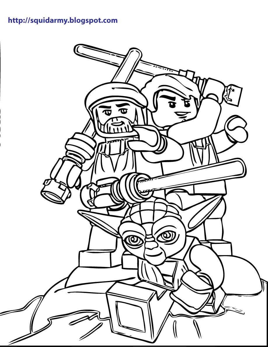 Lego Star Wars Coloring Pages Squid Army